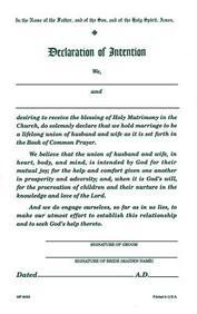 Declaration/Intention [Pad of 50]: #8035r