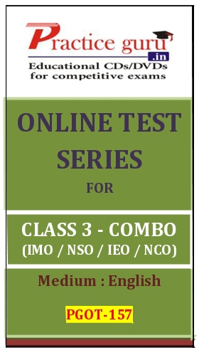 Online Test Series for Class 3-Combo Pack (IMO/NSO/IEO/NCO)