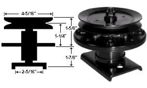Replacement Spindle Assembly For Sears / AYP / Husqvarna # 106037X , 121622X , 121658X , 136818, 136819, 105483X