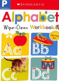 Wipe Clean Workbook : Prek Alphabet
