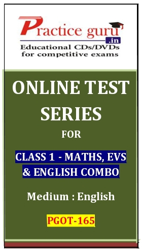 Online Test Series for Class 1-Maths, EVS and English Combo