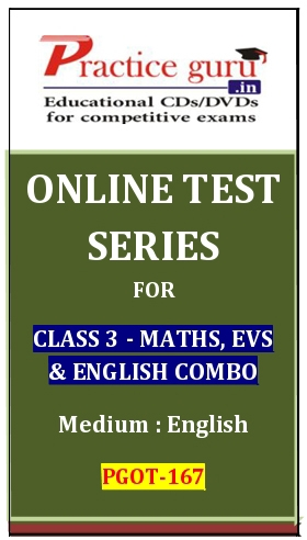 Online Test Series for Class 3-Maths, EVS and English Combo