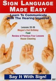 Sign Language Dvd Series 33- 36: Birthdays, Food Cleaning: Language Arts