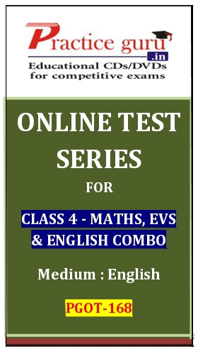 Online Test Series for Class 4-Maths, EVS and English Combo