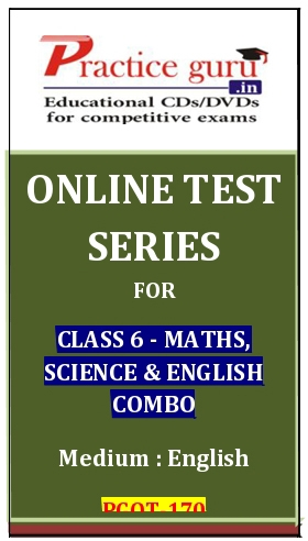 Online Test Series for Class 6-Maths, Science and English Combo