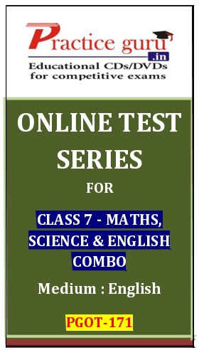 Online Test Series for Class 7-Maths, Science and English Combo