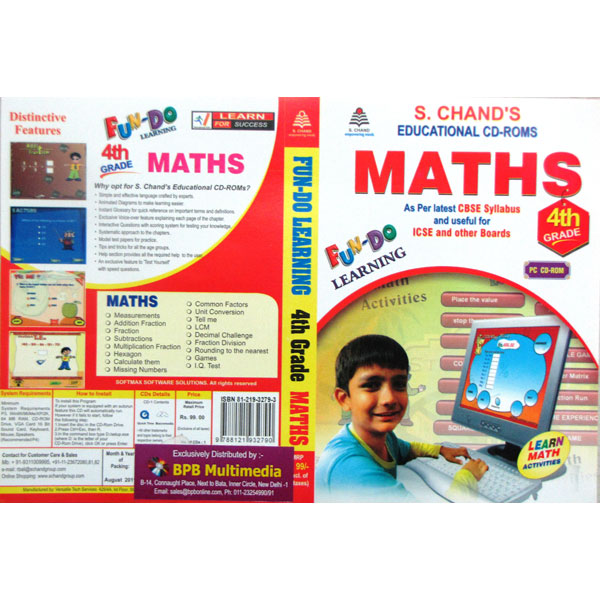 S Chand Educational CD-Rom: Fun-Do-Maths Class-4