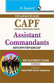 Capf Assistant Commandants Bsf/Crpf/Itbp/Ssb/Cisf Recruitment Exam Paper 2 : Code R 1439