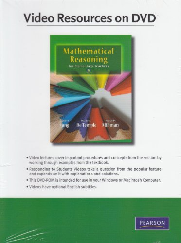 Video Resources on DVD for Mathematical Reasoning for Elementary School Teachers