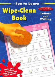 Letters & Writing Fun To Learn Wipe Clean Book Ages 4 & Up