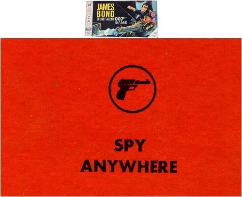 Spy Anywhere Card for 1964 James Bond Secret Agent 007 Game
