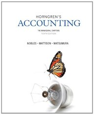 Horngren's Accounting, The Managerial Chapters and NEW MyAccountingLab with eText -- Access Card Package (10th Edition)