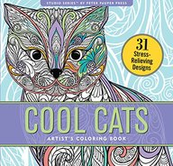 Cool Cats Adult Coloring Book (31 stress-relieving designs)