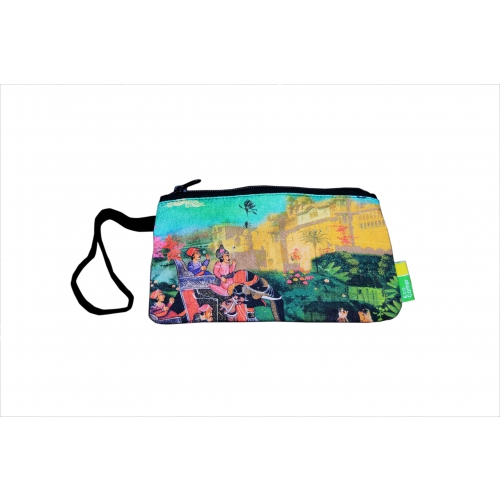 Eco Corner Small Indian Art Palace Cotton Pouch