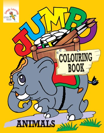 Jumbo Colouring Book-Animals