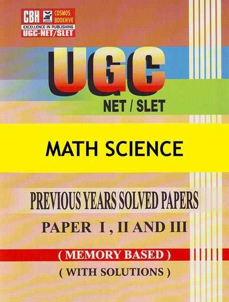 Math Science Previous Years Solved Papers for UGC-NET-SLET Paper-1-2-3