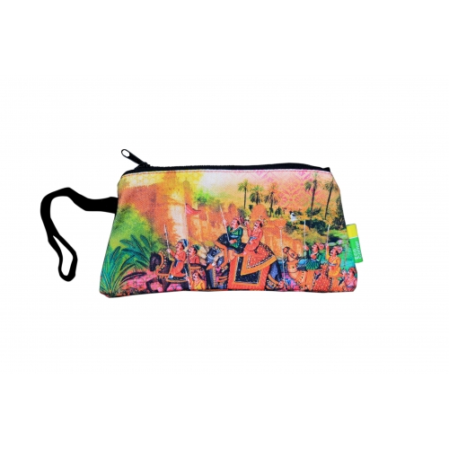 Eco Corner Small Indian Art Parade Cotton Pouch