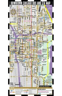Buy Streetwise Chicago Bus, CTA & Metra Map - Laminated Chicago ...