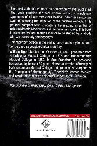 Buy Pocket Manual Of Homoeopathic Materia Medica & Repertory book