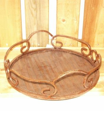 Bronze Steel Tray for Serving Foods or Decoration