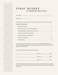 Final Wishes (Pack of 5): A Guide for Survivors