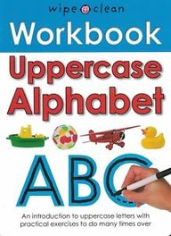 Workbook Uppercase Alphabet Abc : Wipe Clean