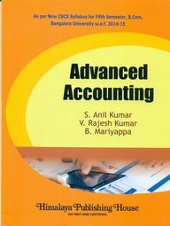 Advanced Accounting For 5 Sem Bcom : Bu
