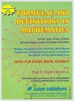 Formulae & Definitions In Mathematics : Green Book For Dgree