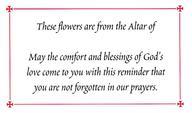 6802 Altar Flower Card [Pack of 100]: #6802 -