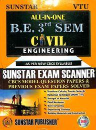 Sunstar Exam Scanner Be 3 Sem Civil Engineering All In One Previous Exam Solved : Vtu