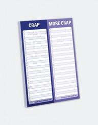 Knock Knock Crap/More Crap Perforated Pad