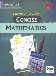 Self Help Concise Mathematics  Class 8 For 2021 Examination : Icse