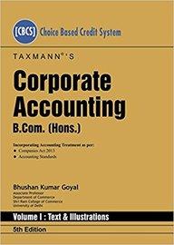 Corporate Accounting B Com Hons Set Of 2 Vols
