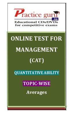 Online Test for Management: CAT: Quantitative Ability: Topic-Wise: Averages