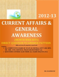 2012-13 Current Affairs And General Awareness