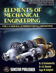 Elements Of Mechanical Engineering For 1 & 2 Sem Be