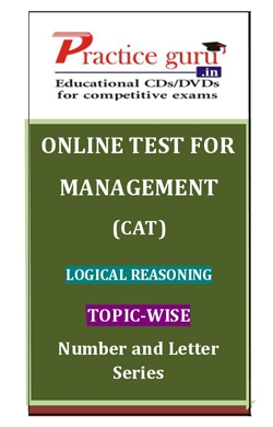 Online Test for Management: CAT: Logical Reasoning: Topic-Wise: Number and Letter Series