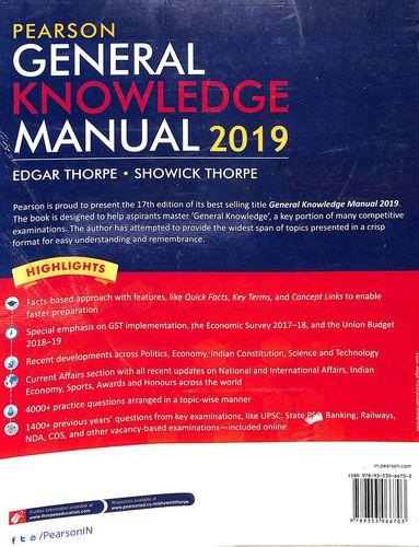 Buy Pearson General Knowledge Manual 2019 book : Edgar