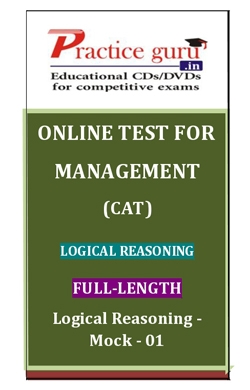 Online Test for Management: CAT: Logical Reasoning: Full Length: Logical Reasoning-Mock-01