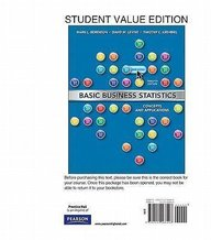 Basic Business Statistics, Student Value Edition with Student Solutions Manual (12th Edition)