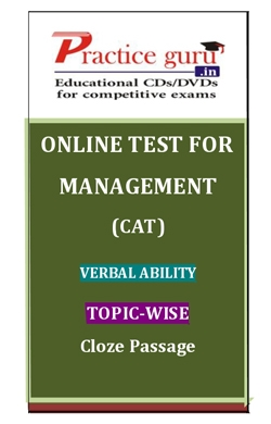 Online Test for Management: CAT: Verbal Ability: Topic-Wise: Cloze Passage