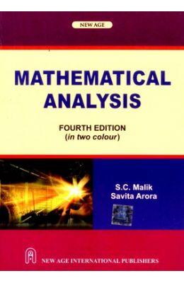 Buy Mathematical Analysis book : Sc Malik,Savitha Arora, 8122427723