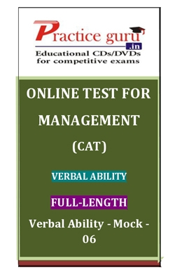 Online Test for Management: CAT: Verbal Ability: Full-Length: Verbal Ability-Mock-06
