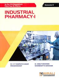 Industrial Pharmacy - 1 : Third Year B Pharm  5th Sem