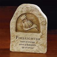 Firefighter Resin Sitter