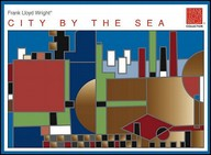 Pomegranate Frank Lloyd Wright/City By The Sea Standard Boxed Note Card Set (Pack Of 2)