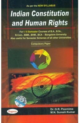 Buy Indian Constitution & Human Rights For 1 & 2 Sem Ba Bsc
