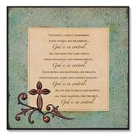God in Control Plaque