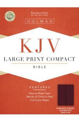 Large Print Compact Bible-KJV-Snap Flap