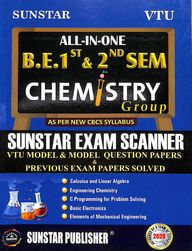Sunstar Exam Scanner Be 1 & 2 Sem Chemistry Group  All In One Model Question Papers Solved : Vtu